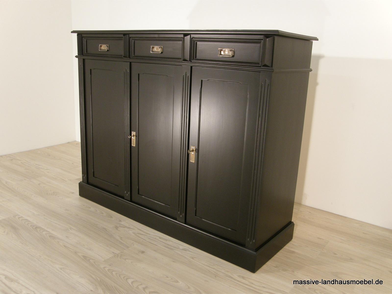 massive landhausm bel anrichte exclusive massive. Black Bedroom Furniture Sets. Home Design Ideas