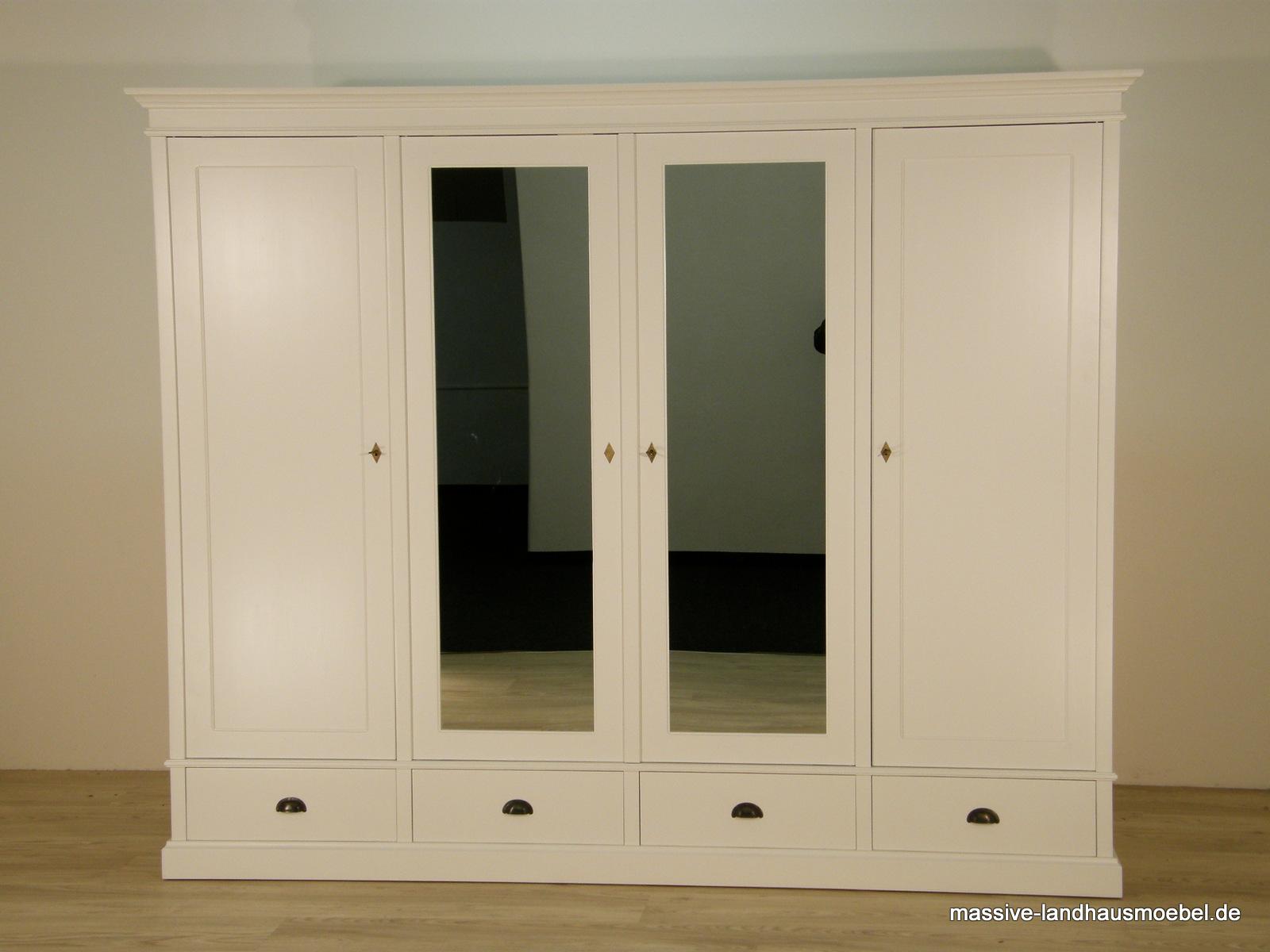 massive landhausm bel 206 schrank 4t ecxlusiv wei. Black Bedroom Furniture Sets. Home Design Ideas