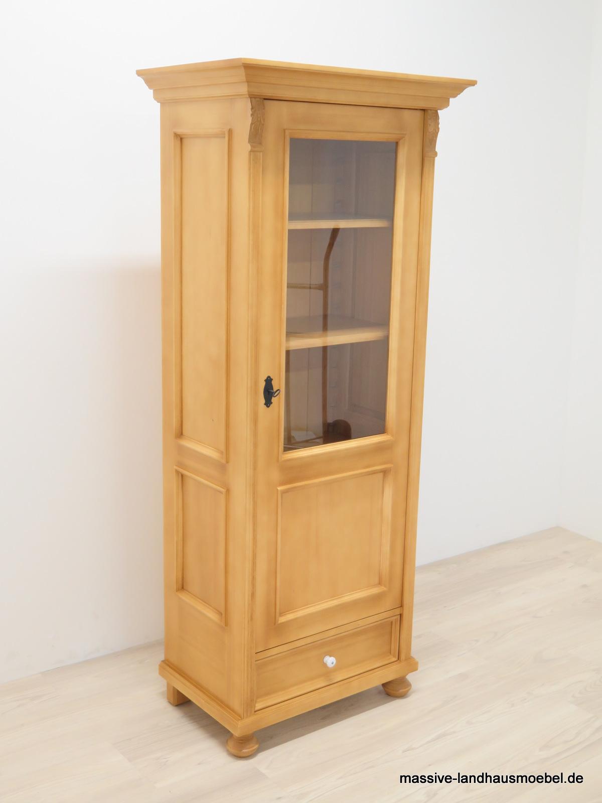 massive landhausm bel 1615 vitrine 1t deluxe landhaus aus massivholz. Black Bedroom Furniture Sets. Home Design Ideas