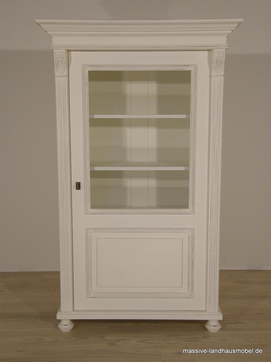 massive landhausm bel 1605 vitrine 1t deluxe landhaus. Black Bedroom Furniture Sets. Home Design Ideas