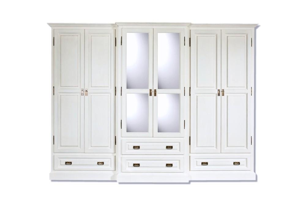 Schlafzimmerschrank weiß landhausstil  Massive Landhausmöbel - Kleiderschrank, Spiegelschrank ...
