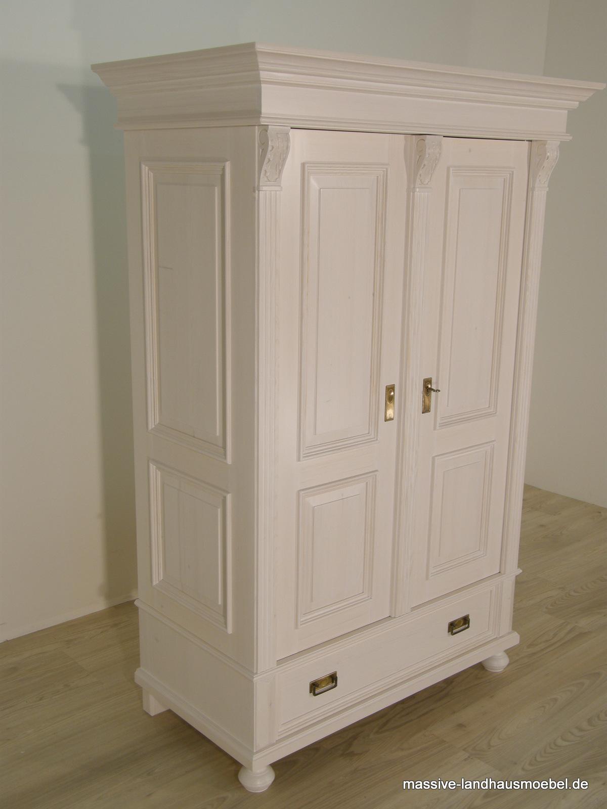 massive landhausm bel schrank wei holz shabby. Black Bedroom Furniture Sets. Home Design Ideas