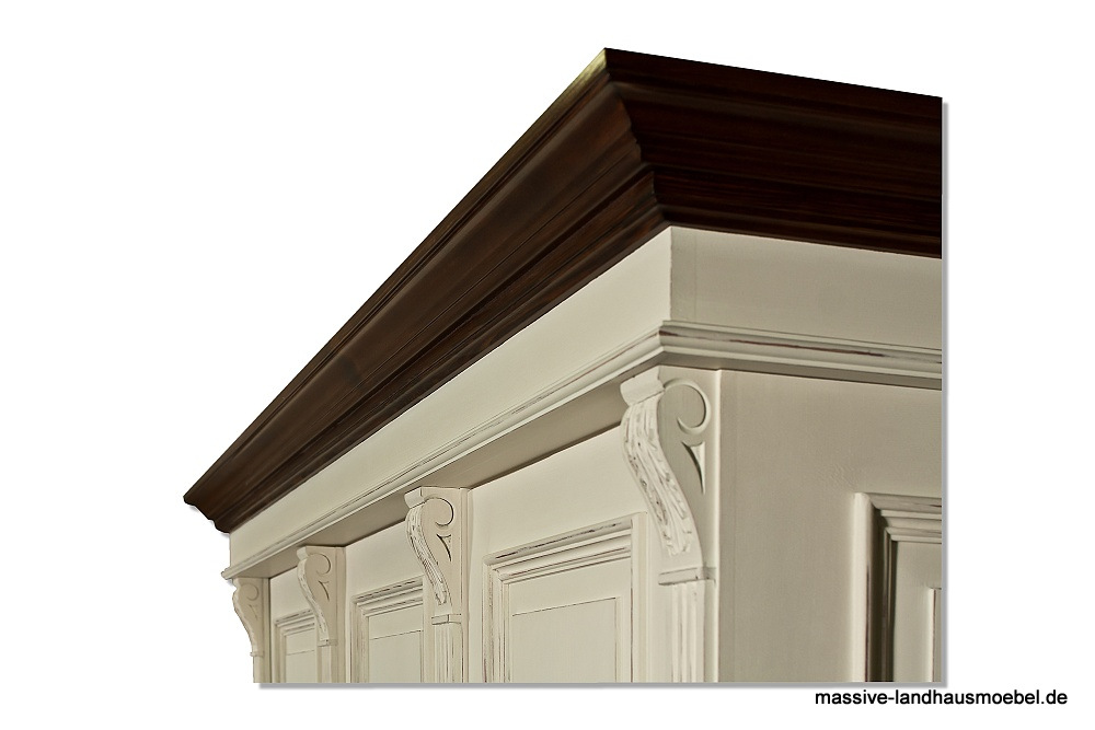 massive landhausm bel 1222 schrank deluxe. Black Bedroom Furniture Sets. Home Design Ideas