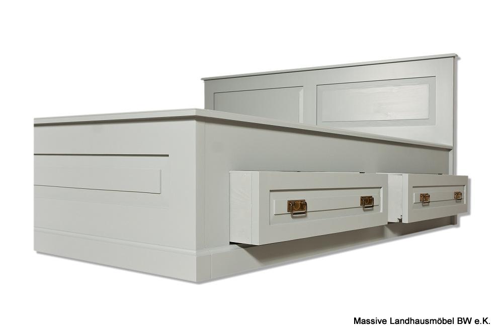 Massive Landhausmöbel - 1384 Bett Exclusive Massivholz