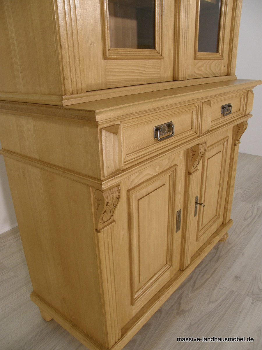 massive landhausm bel 1114 b cherschrank 2t deluxe. Black Bedroom Furniture Sets. Home Design Ideas
