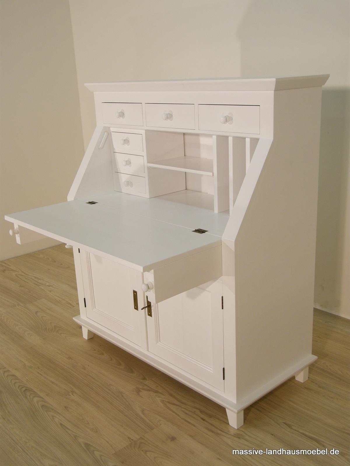 massive landhausm bel 1411 schreibsekret r linear. Black Bedroom Furniture Sets. Home Design Ideas