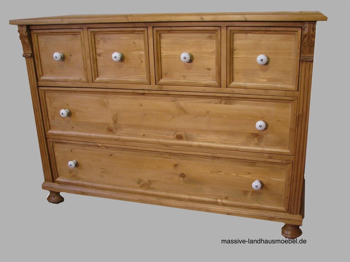 massive landhausm bel 5080 kommode. Black Bedroom Furniture Sets. Home Design Ideas