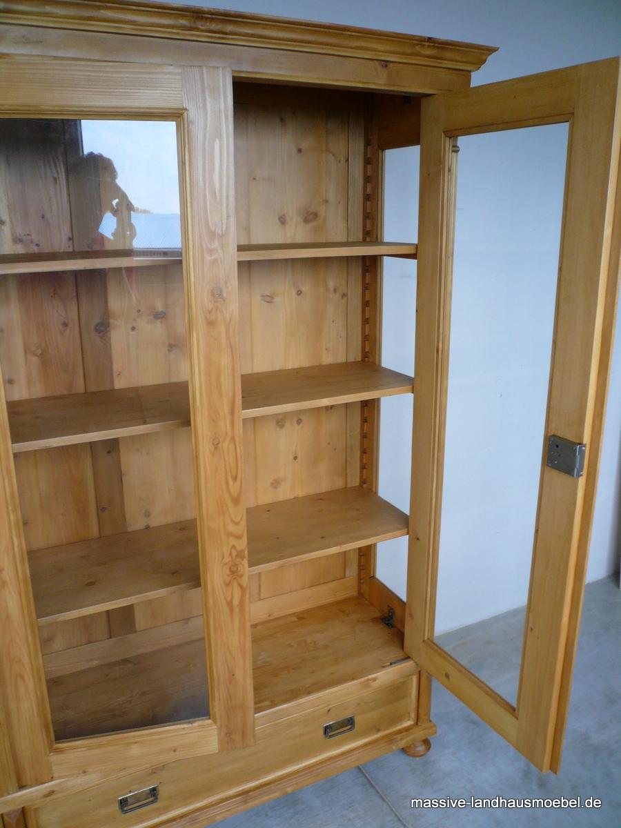 massive landhausm bel 5509 vitrine 3 t classic landhaus. Black Bedroom Furniture Sets. Home Design Ideas