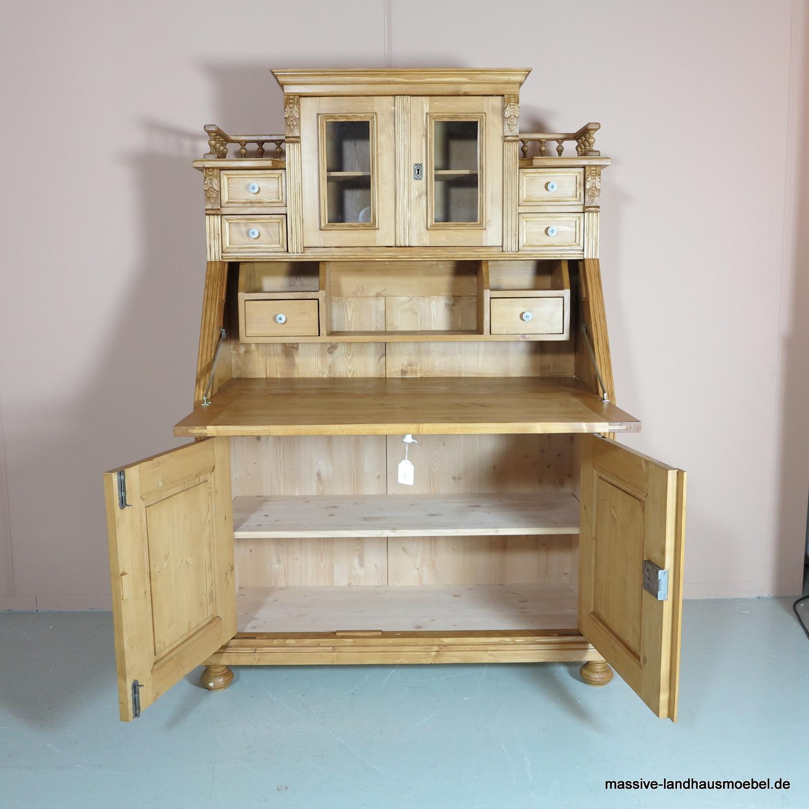 massive landhausm bel 5405 schreibsekret r classic. Black Bedroom Furniture Sets. Home Design Ideas