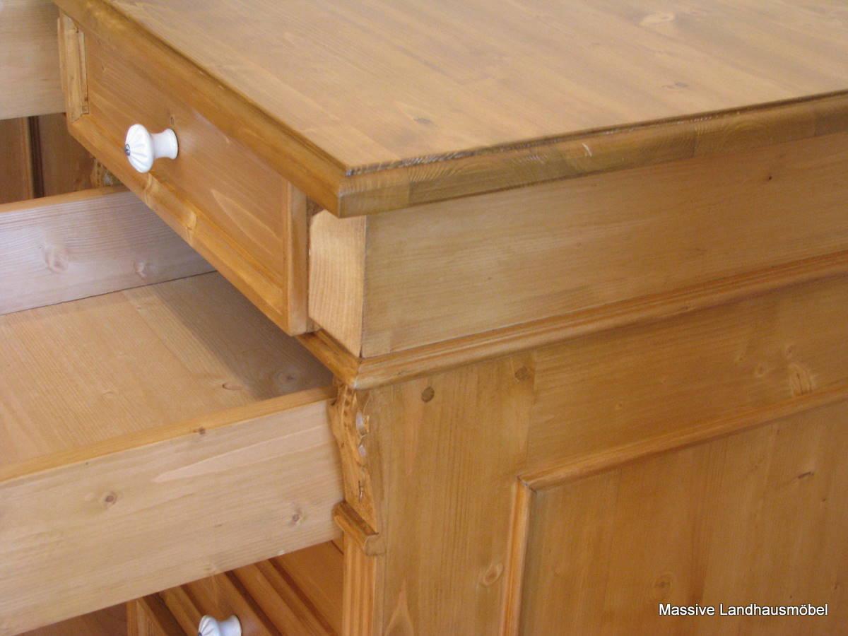 Schreibtisch freistehend - Landhausmobel eiche ...