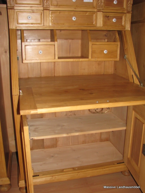 massive landhausm bel 5404 schreibsekret r classic. Black Bedroom Furniture Sets. Home Design Ideas