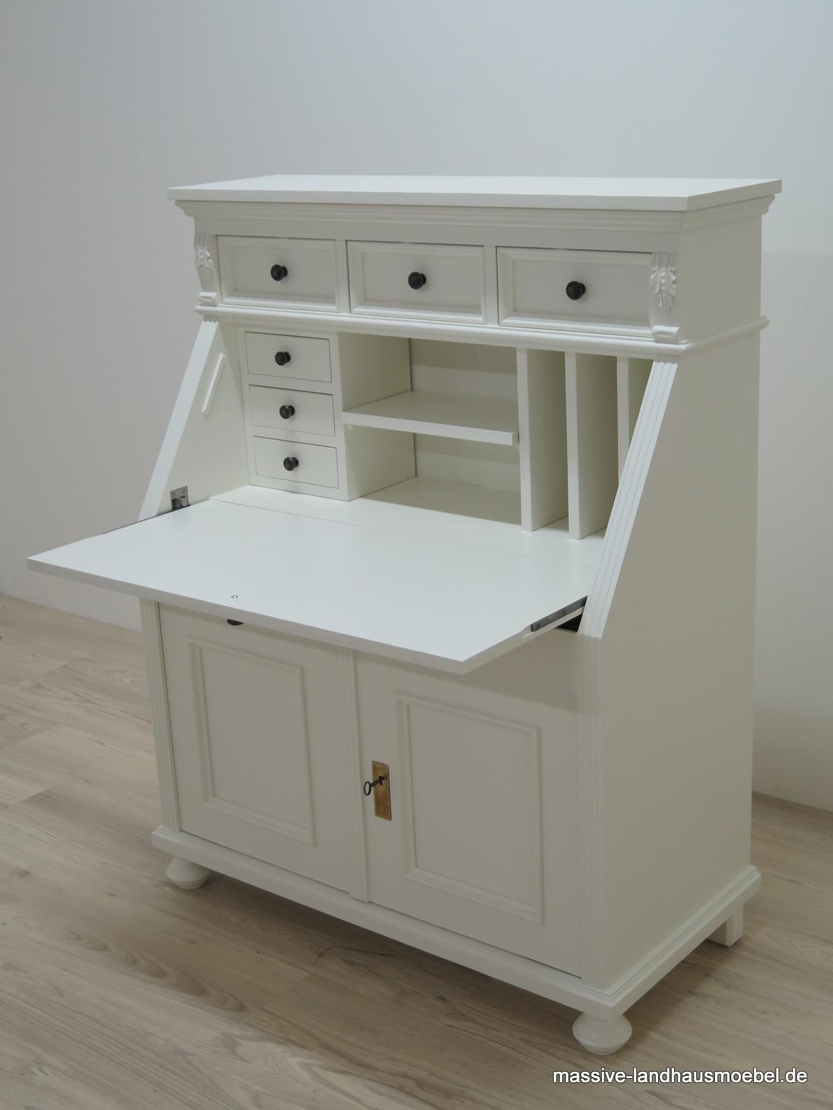 massive landhausm bel 5400 schreibsekret r. Black Bedroom Furniture Sets. Home Design Ideas