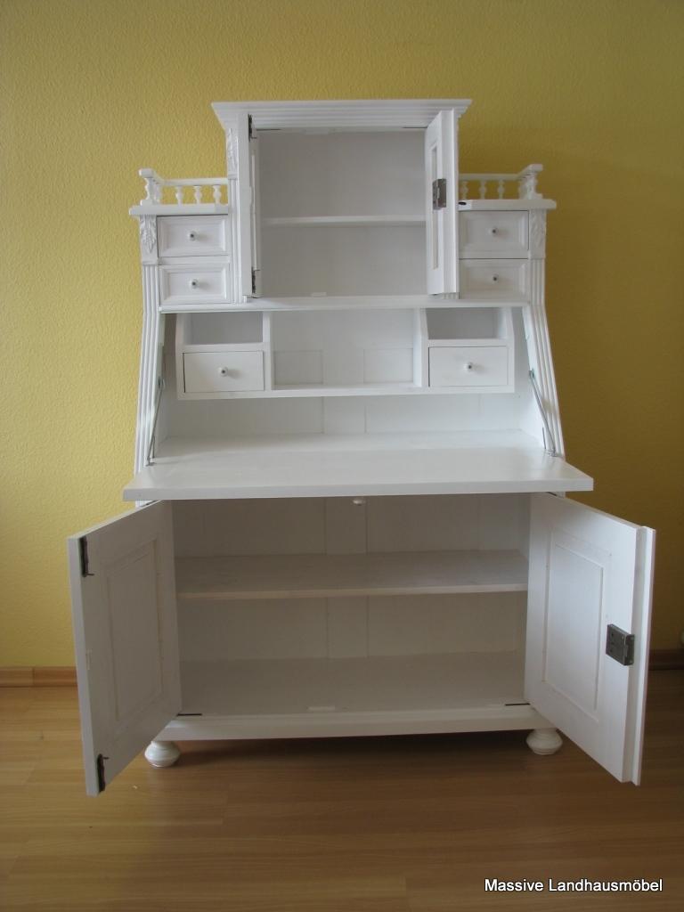 massive landhausm bel 5412 schreibsekret r classic. Black Bedroom Furniture Sets. Home Design Ideas
