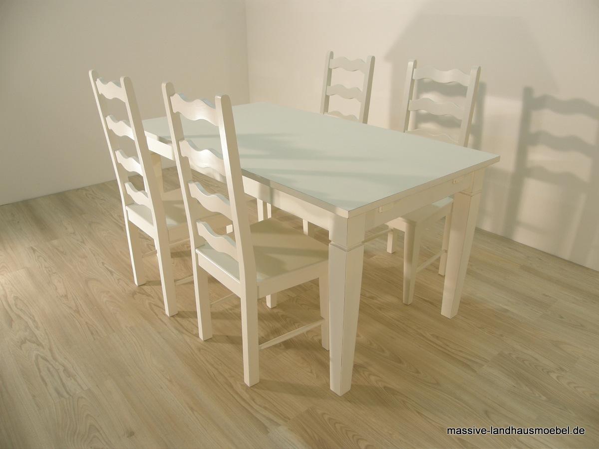 massive landhausm bel tisch 104 und st hle 1007 in creme fotobeispiel. Black Bedroom Furniture Sets. Home Design Ideas