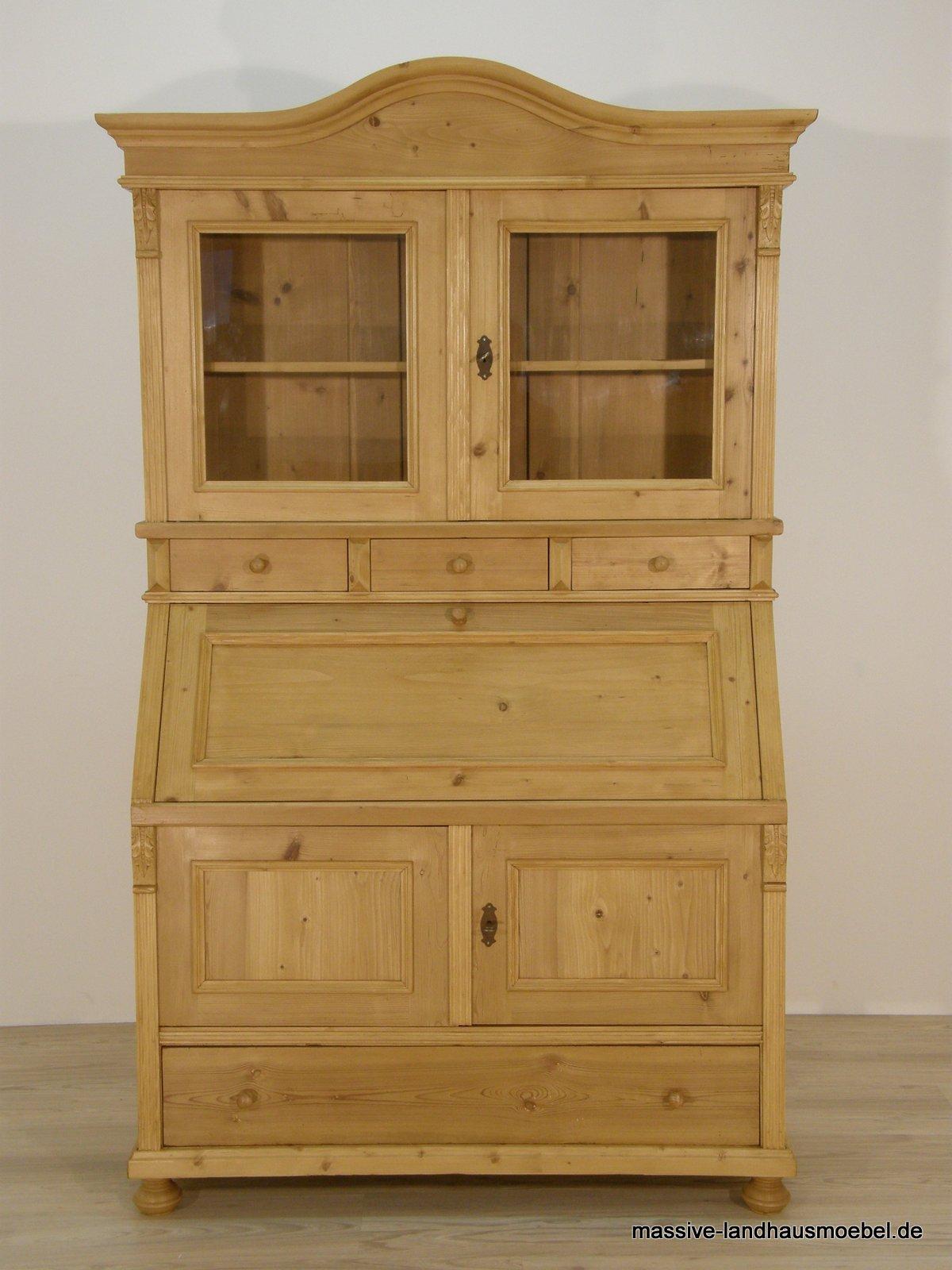massive landhausm bel 5413 schreibsekret r classic. Black Bedroom Furniture Sets. Home Design Ideas