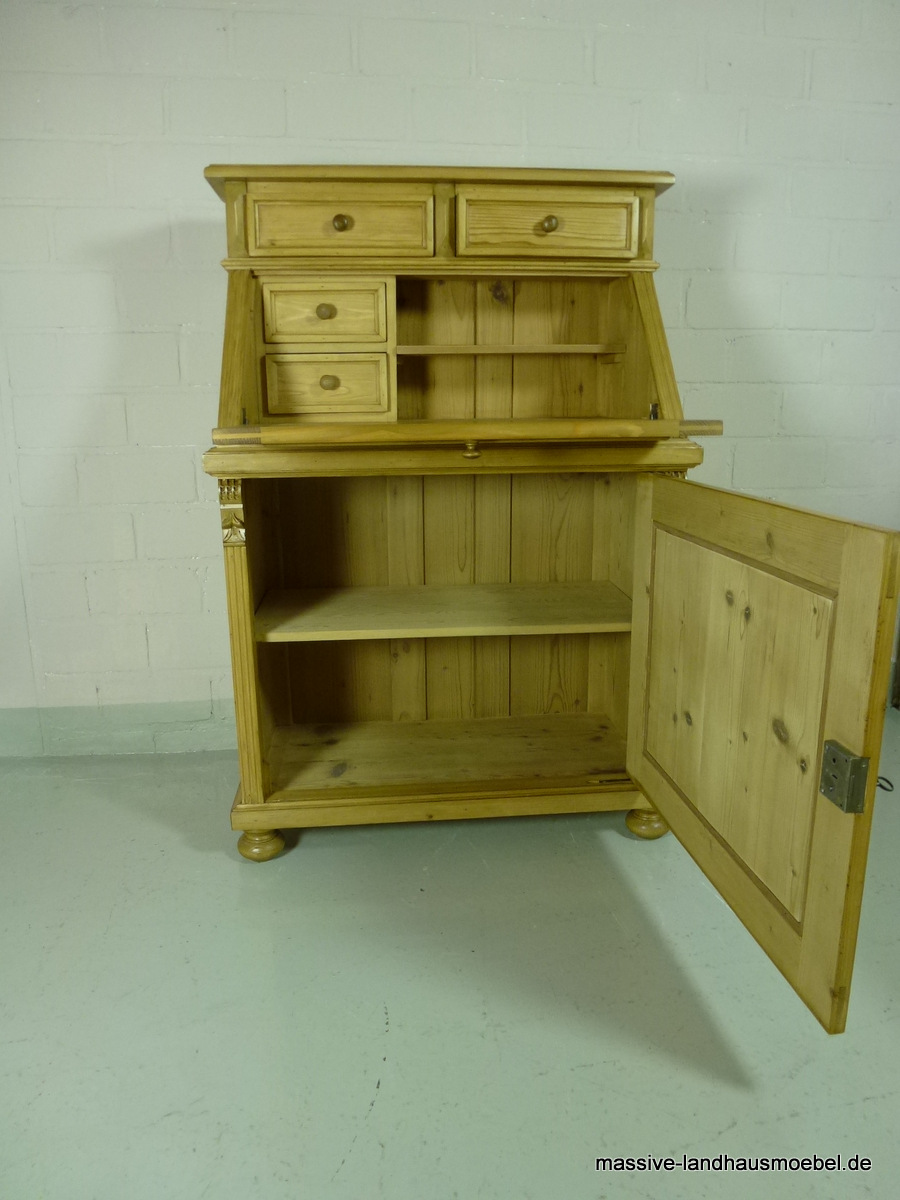 massive landhausm bel 5415 schreibsekret r classic. Black Bedroom Furniture Sets. Home Design Ideas