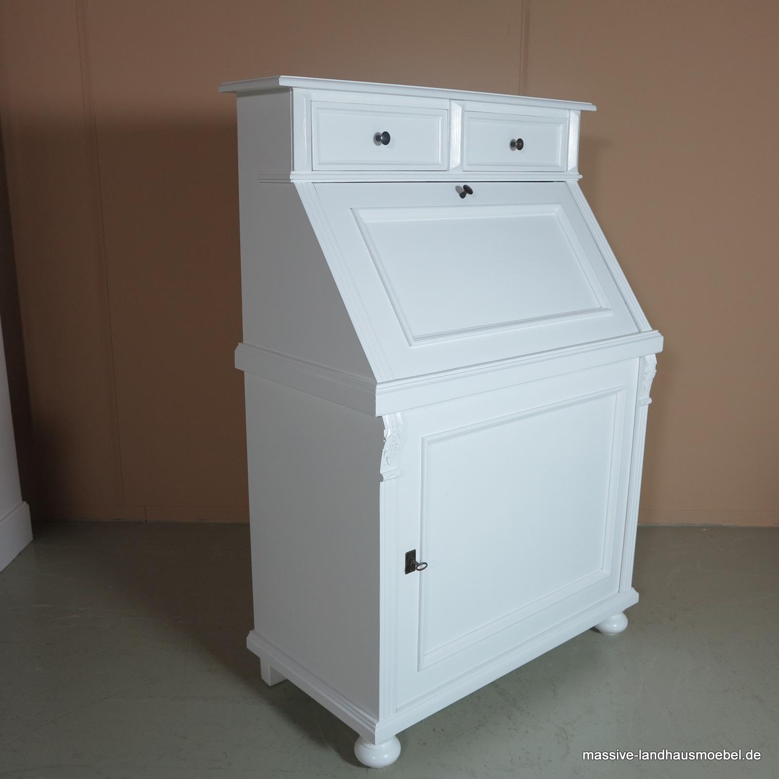 massive landhausm bel 5416 schreibsekret r. Black Bedroom Furniture Sets. Home Design Ideas