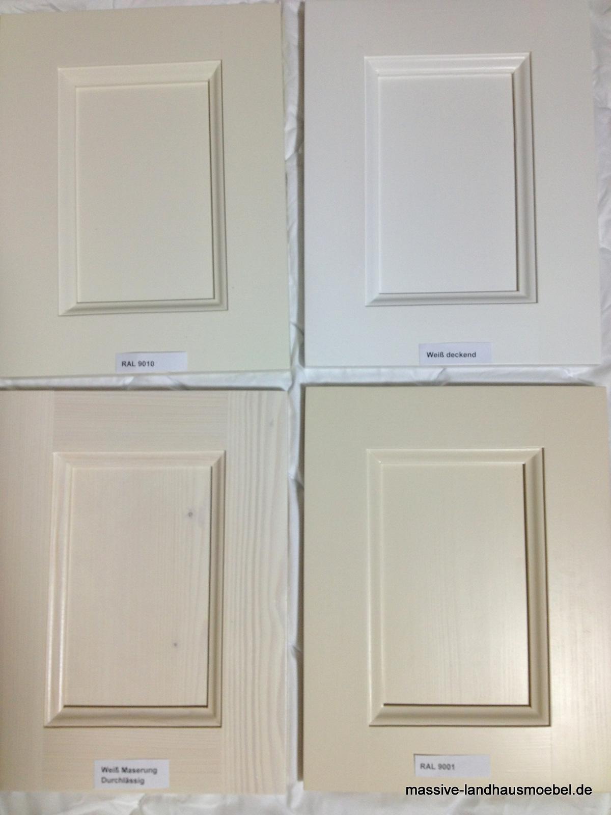 Massive Landhausmöbel - Weiß Variationen (Beispiele)