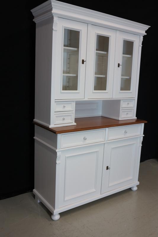 4100 buffet 2t classic landhaus aus massivholz wei ebay. Black Bedroom Furniture Sets. Home Design Ideas