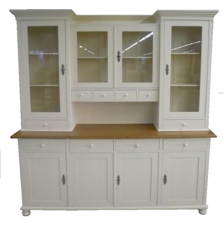 5222 buffet classic wei massive landfhausm bel ebay. Black Bedroom Furniture Sets. Home Design Ideas
