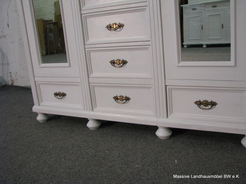 5512 schrank 3t classic weiss massive landhausm bel ebay. Black Bedroom Furniture Sets. Home Design Ideas