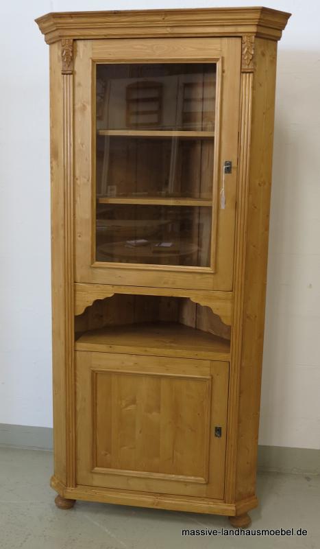 55702 eckschrank vitrine classic massive landhausm bel ebay. Black Bedroom Furniture Sets. Home Design Ideas