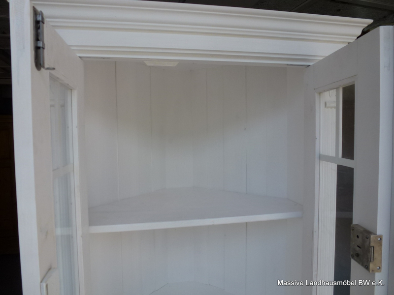 7501 eckschrank classic wei massive landhausm bel ebay. Black Bedroom Furniture Sets. Home Design Ideas
