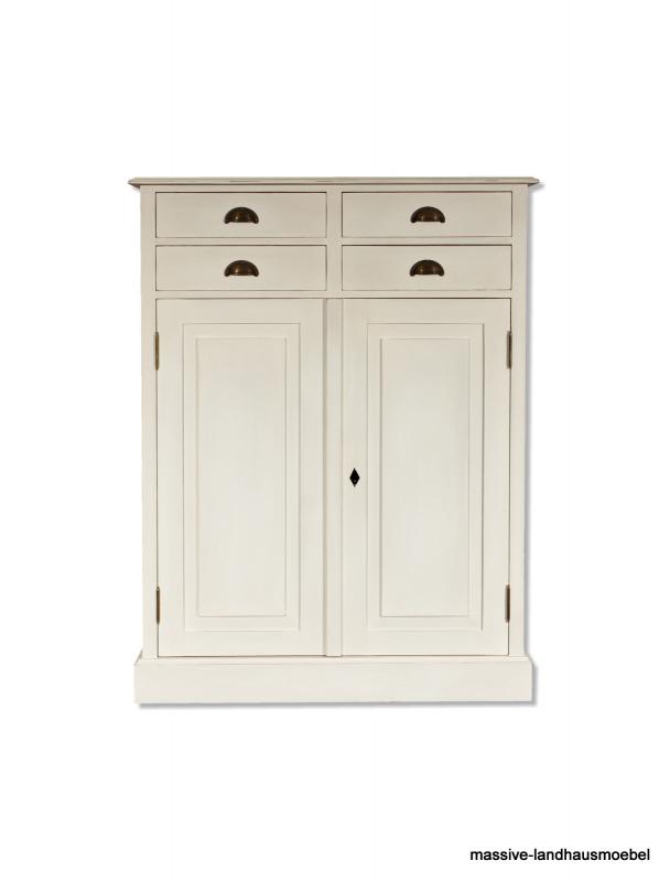 0120 vertiko shabby wei weichholz schrank ebay. Black Bedroom Furniture Sets. Home Design Ideas
